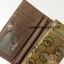 กระเป๋าสตางค์ใบยาว MK สีทอง-น้ำตาล ขนาด 2 พับ thumbnail 2