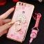 (025-250)เคสมือถือ Huawei P10 Plus เคสนิ่มขอบชุบแววหลังใสลายดอกไม้ประดับคริสตัลแหวนโลหะสวยๆ thumbnail 7