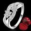 ฟรีกล่องแหวน R885 แแหวนเพชรCZ ตัวเรือนเคลือบเงิน 925 หัวแหวนรูปดอกไม้คู่ ขนาดแหวนเบอร์ 8 thumbnail 1