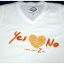 เสื้อยืด Yes Or No 2 รูปหัวใจ สีขาวไซส์ M thumbnail 1