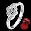 ฟรีกล่องแหวน R910 แแหวนเพชรCZ ตัวเรือนเคลือบเงิน 925 หัวแหวนเพชรล้อม ขนาดแหวนเบอร์ 7 thumbnail 1