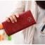 กระเป๋าสตางค์ใบยาว สีไวน์แดง ขนาด 3 พับ ประดับรูปร่ม หนัง PU thumbnail 2