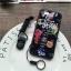 (674-015)เคสมือถือไอโฟน case iphone 5/5s/SE เคสนิ่มลายดอกไม้พื้นหลังแววๆ thumbnail 3