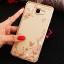 (025-600)เคสมือถือซัมซุง Case Samsung A9 Pro เคสนิ่มขอบแววพื้นหลังลายดอกไม้คริสตัลแหวนโลหะตั้งโทรศัพท์น่ารักๆ thumbnail 6