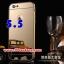 (พร้อมส่ง)เคสมือถือไอโฟน case iphone 6 Plus/6S Plus เคสกรอบโลหะพื้นหลังอะคริลิคเคลือบเงาทองคำ 24K thumbnail 1