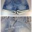 (เด็กโต) กางเกงยีนส์ฟอกขาสั้น ปลายขาแต่งลูกไม้เก๋ๆ ทรงสวย ผ้านิ่ม ใส่สบายค่ะ size thumbnail 1