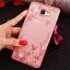 (025-600)เคสมือถือซัมซุง Case Samsung A9 Pro เคสนิ่มขอบแววพื้นหลังลายดอกไม้คริสตัลแหวนโลหะตั้งโทรศัพท์น่ารักๆ thumbnail 14