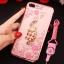 (025-643)เคสมือถือไอโฟน Case iPhone7 Plus/iPhone8 Plus เคสนิ่มลายประดับคริสตัลลายดอกไม้พร้อมแหวนเพชรมือถือและสายคล้องคอถอดแยกได้ thumbnail 13
