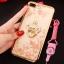 (025-643)เคสมือถือไอโฟน Case iPhone7 Plus/iPhone8 Plus เคสนิ่มลายประดับคริสตัลลายดอกไม้พร้อมแหวนเพชรมือถือและสายคล้องคอถอดแยกได้ thumbnail 4