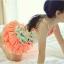 Amber Bear (made in Korea) ชุดเซ็ทเสื้อลายดอกไม้สีส้ม กับกางเกงแต่งระบายสีสันสดใส ผ้าดี เหมาะกับ summer นี้ค่ะ size 7-15 thumbnail 1