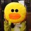 หมอนอิงไลน์ line pillow : sally ลูกเจี๊ยบ สีเหลือง thumbnail 1