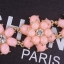 Sweet Pink Flower Bracelet สร้อยข้อมือออกงานรูปดอกไม้แต่งหินสีชมพูหวาน thumbnail 3