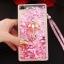 (549-001)เคสมือถือ Case Huawei P8 Lite เคสพลาสติกใส Glitter ทรายดูดหัวใจ thumbnail 16