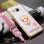 (587-002)เคสมือถือวีโว Vivo Xshot เคสนิ่มลายดอกขอบแววพื้นหลังแหวนโลหะคริสตัลสวยๆ thumbnail 3