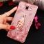 (025-600)เคสมือถือซัมซุง Case Samsung A9 Pro เคสนิ่มขอบแววพื้นหลังลายดอกไม้คริสตัลแหวนโลหะตั้งโทรศัพท์น่ารักๆ thumbnail 13