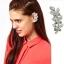 Olive Leaf Crystal Left Ear Cuff ต่างหูแบบเจาะรูปใบมะกอกแต่งคริสตัลใส ใส่หูซ้าย thumbnail 1