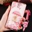 (598-001)เคสมือถือซัมซุงโน๊ต Note3 Neo เคสนิ่มซิลิโคนใสลายหรูติดคริสตัล พร้อมแหวนเพชรวางโทรศัพท์ และสายคล้องคอกดแยกออกได้ thumbnail 2