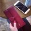 Classic Day Clutch Wine Red Wallet กระเป๋าสตางค์ทรงยาวสีแดงไวน์ แบบเรียบหรู thumbnail 1