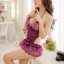 2in1 Sexy Dress ชุดนอนเซ็กซี่สีม่วงสุดหรูแต่งลูกไม้ชายระบาย+จีสตริง thumbnail 3