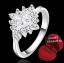ฟรีกล่องแหวน R879 แหวนเพชรCZ ตัวเรือนเคลือบเงิน 925 หัวแหวนรูปดอกไม้แต่งเพชร ขนาดแหวนเบอร์ 7 thumbnail 1