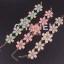 Princess White Flower Bracelet สร้อยข้อมือออกงานรูปดอกไม้แต่งหินสีขาวเจ้าหญิง thumbnail 6