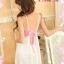 2in1 Sexy Princess Dress ชุดนอนเซ็กซี่ผ้ามันลื่นสีขาวแต่งลูกไม้สีชมพูใต้อก พร้อมจีสตริง thumbnail 5