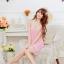 2in1 Sexy Dress ชุดนอนเซ็กซี่สีชมพูทรงย้วยชายลูกไม้หวานๆ+จีสตริง MM8270 thumbnail 4