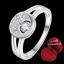 ฟรีกล่องแหวน R884 แแหวนเพชรCZ ตัวเรือนเคลือบเงิน 925 หัวแหวนรูปพระจันทร์เสี้ยว ขนาดแหวนเบอร์ 8 thumbnail 1