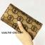 กระเป๋าสตางค์ใบยาว MK สีทอง-น้ำตาล ขนาด 2 พับ thumbnail 1