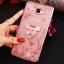 (025-600)เคสมือถือซัมซุง Case Samsung A9 Pro เคสนิ่มขอบแววพื้นหลังลายดอกไม้คริสตัลแหวนโลหะตั้งโทรศัพท์น่ารักๆ thumbnail 9