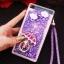 (549-001)เคสมือถือ Case Huawei P8 Lite เคสพลาสติกใส Glitter ทรายดูดหัวใจ thumbnail 10