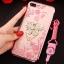 (025-643)เคสมือถือไอโฟน Case iPhone7 Plus/iPhone8 Plus เคสนิ่มลายประดับคริสตัลลายดอกไม้พร้อมแหวนเพชรมือถือและสายคล้องคอถอดแยกได้ thumbnail 20