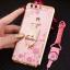 (025-250)เคสมือถือ Huawei P10 Plus เคสนิ่มขอบชุบแววหลังใสลายดอกไม้ประดับคริสตัลแหวนโลหะสวยๆ thumbnail 11