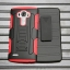 (002-169)เคสมือถือ LG G4 เคสนิ่ม+พื้นหลังประกบแบบพลาสติก+มีขาตั้ง+ที่เหน็บเอวสไตล์กันกระแทก thumbnail 8