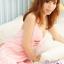 2in1 Sexy Dress ชุดนอนสาวจีนสีชมพูผ้ามันลื่นคล้องคอผูกหลังโชว์อกผ่าข้าง+จีสตริงเข้าชุด thumbnail 5
