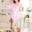 2in1 Sexy Princess Dress เสื้อคลุมชุดนอนเซ็กซี่ซีทรูสีชมพูแสนหวานพร้อมสายคาดเอวและจีสตริง thumbnail 3