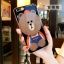 (025-639)เคสมือถือไอโฟน Case iPhone 7 Plus/8 Plus เคสนิ่มหมีไลน์ Glitter แหวนเพชรมือถือและสายคล้องคอถอดแยกสายได้ thumbnail 5