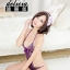 Sexy Bodysuit ชุดนอนบอดี้สูทสีม่วงทอลายดอกไม้แสนสวยสไตล์เจ้าหญิง E04483 thumbnail 3
