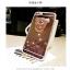 (025-706)เคสมือถือไอโฟน Case iPhone 7 Plus/8 Plus เคสขอบนิ่มพื้นหลังแววกึ่งกระจกมีแหวนมือถือรูปหมี thumbnail 4