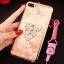 (025-643)เคสมือถือไอโฟน Case iPhone7 Plus/iPhone8 Plus เคสนิ่มลายประดับคริสตัลลายดอกไม้พร้อมแหวนเพชรมือถือและสายคล้องคอถอดแยกได้ thumbnail 9