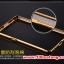 (025-161)เคสมือถือ Case OPPO R7 Plus เคสกรอบโลหะพื้นหลังอะคริลิคเคลือบเงาทองคำ 24K thumbnail 5