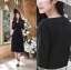 Daisy Dress สีดำ (แบบใหม่ หลังไม่เว้าค่ะ) thumbnail 1