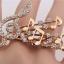 Music Lover My Melody Double Ring แหวนคู่สีทองรูปบันไดเสียงดนตรีแต่งคริสตัล thumbnail 3