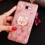 (025-600)เคสมือถือซัมซุง Case Samsung A9 Pro เคสนิ่มขอบแววพื้นหลังลายดอกไม้คริสตัลแหวนโลหะตั้งโทรศัพท์น่ารักๆ thumbnail 10