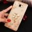 (025-600)เคสมือถือซัมซุง Case Samsung A9 Pro เคสนิ่มขอบแววพื้นหลังลายดอกไม้คริสตัลแหวนโลหะตั้งโทรศัพท์น่ารักๆ thumbnail 7