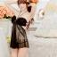 2in1 Sexy Dress ชุดนอนเซ็กซี่ซีทรูสีดำสุดหรูแต่งระบายอก สายคล้องคอ+จีสตริง thumbnail 6