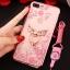 (025-643)เคสมือถือไอโฟน Case iPhone7 Plus/iPhone8 Plus เคสนิ่มลายประดับคริสตัลลายดอกไม้พร้อมแหวนเพชรมือถือและสายคล้องคอถอดแยกได้ thumbnail 17