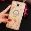 (025-600)เคสมือถือซัมซุง Case Samsung A9 Pro เคสนิ่มขอบแววพื้นหลังลายดอกไม้คริสตัลแหวนโลหะตั้งโทรศัพท์น่ารักๆ thumbnail 8