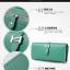 กระเป๋าสตางค์ใบยาว ประดับเข็มกลัดตัว H สี Pink หนัง PU นิ่ม thumbnail 2