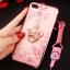 (025-643)เคสมือถือไอโฟน Case iPhone7 Plus/iPhone8 Plus เคสนิ่มลายประดับคริสตัลลายดอกไม้พร้อมแหวนเพชรมือถือและสายคล้องคอถอดแยกได้ thumbnail 12